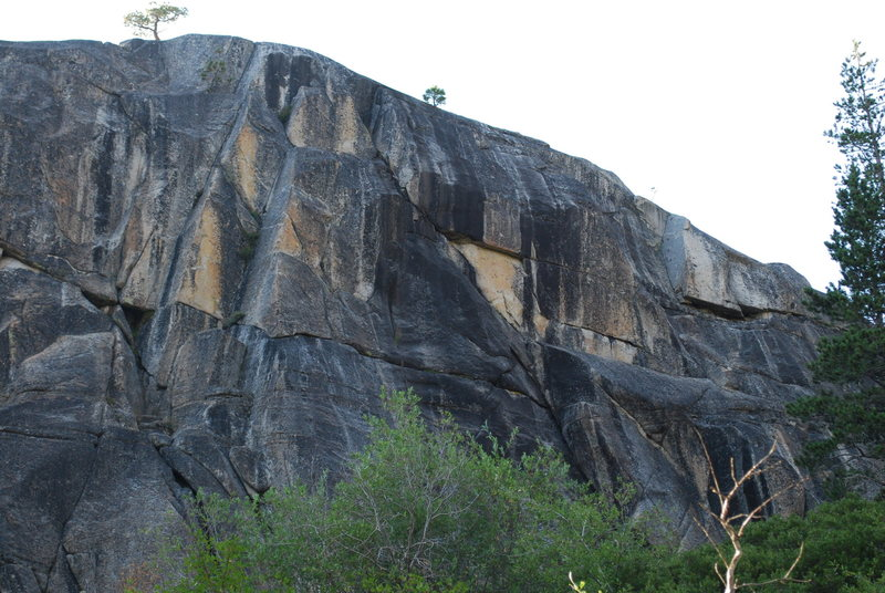Rock Climbing Photo: A view of the two dihedrals (childhoods end and ch...