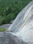 Rock Climbing Photo: Brad near the start the beautiful corner on P3 of ...