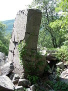 Rock Climbing Photo: Tall boulder in the talus field to the east of Sep...