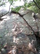 """Rock Climbing Photo: Crack is """"The Fang"""" 5.9"""