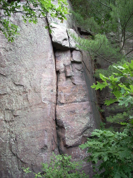 "Rock Climbing Photo: Crack to the overhang and slightly left is ""T..."