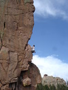 Rock Climbing Photo: Chris Cavallaro eye balling the crux.