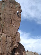 Rock Climbing Photo: Chris making the grade. You can see the fire looko...