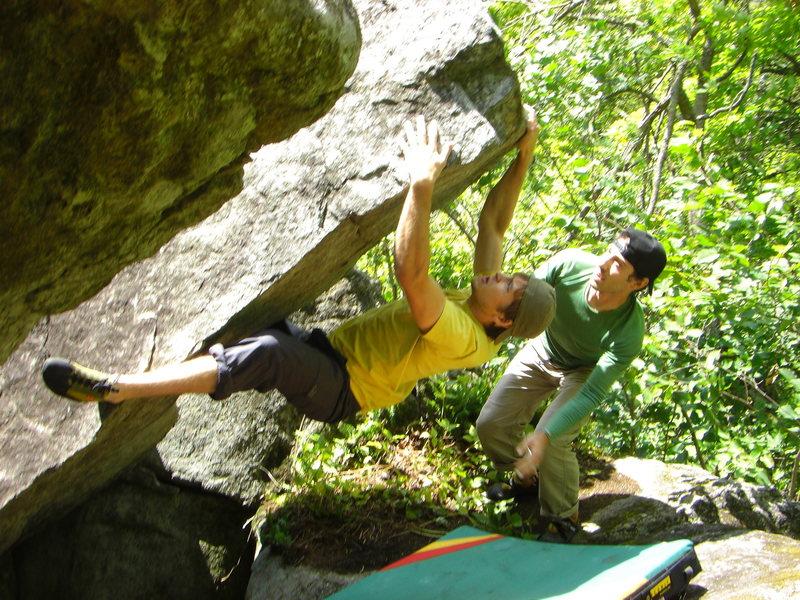 Rock Climbing Photo: Jake all over it.