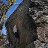 Ian Allison on Bird Hole Right. Photo By Jen Allison.