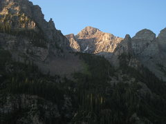 Rock Climbing Photo: The North side of Pyramid Peak from the Crater Lak...