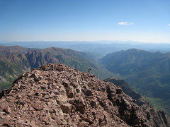 Rock Climbing Photo: Nearing the summit.  This is one of the few spots ...