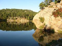 Rock Climbing Photo: Time for a swim.