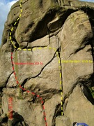 Rock Climbing Photo: Great Western and Western Front, Two classic climb...