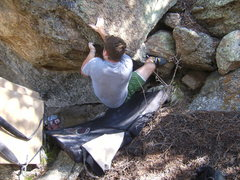 Rock Climbing Photo: The problem on the right side that has yet to see ...
