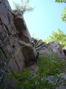 Rock Climbing Photo: This shows a very fun direct version of TM that go...