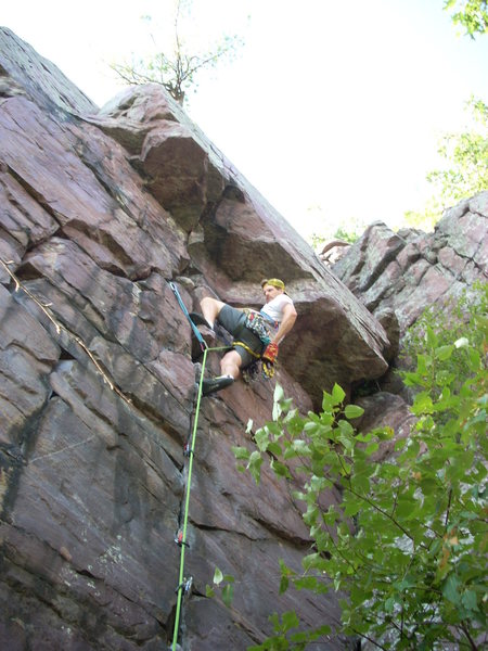 Rock Climbing Photo: One of my better on-sights at DL. TM is a great ro...