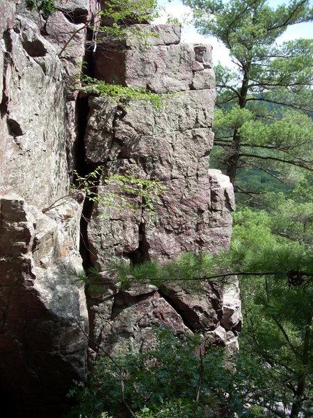 Rock Climbing Photo: Loco Head is the inside corner.