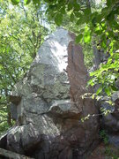 """Rock Climbing Photo: This is """"Layback Boulder"""" as seem from T..."""