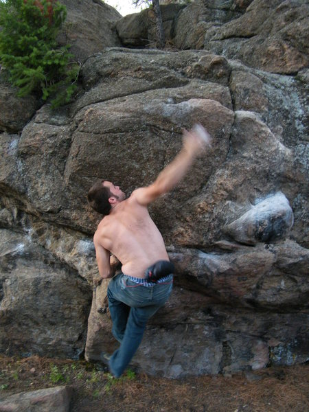 Rock Climbing Photo: Me almost sticking it.