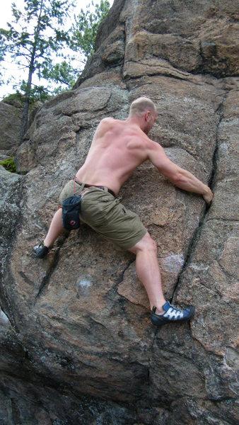 Rock Climbing Photo: Moviendo arriba y a la izquierda.