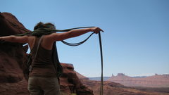 Rock Climbing Photo: flaking out after fischer's tower, moab
