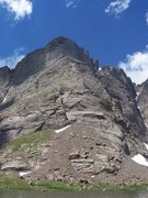 Rock Climbing Photo: Looking up the Ellingwood Ledges from the valley b...