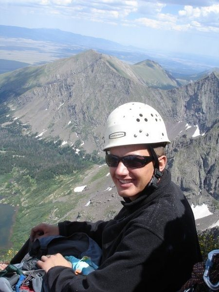 Rock Climbing Photo: Me on one of the belay ledge immediately after the...