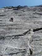 Rock Climbing Photo: heading up the first pitch