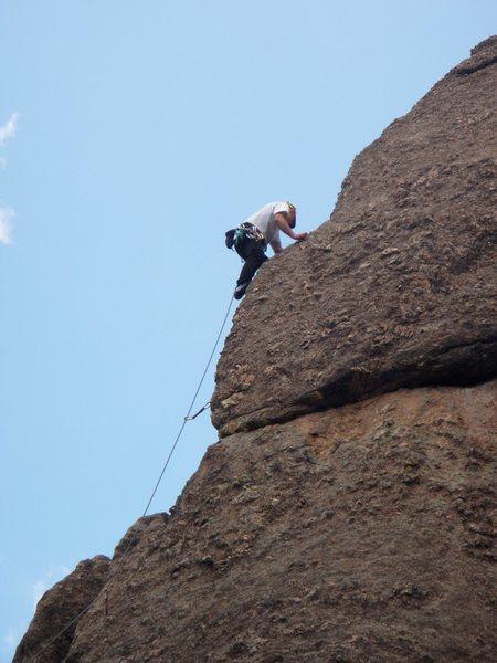 Paul Huebner just above the 3rd bolt?