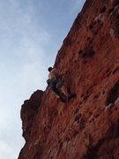 Rock Climbing Photo: Jay E. Leading Dirt Bag. Photo: Roth