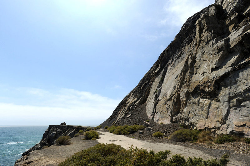 Mugu Slab, overlooking the Pacific Ocean