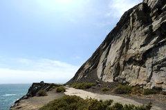 Rock Climbing Photo: Mugu Slab, overlooking the Pacific Ocean