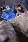 Rock Climbing Photo: Anthony VanLeeuwen climbs through a fingery sectio...