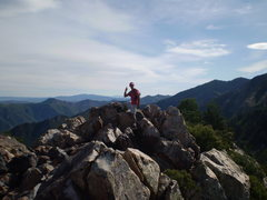Rock Climbing Photo: top of south summit