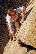 Rock Climbing Photo: Matt Grieger at the start of route C, at Mugu Rock...