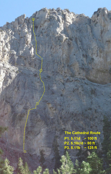Rock Climbing Photo: An aproximate topo of the route.