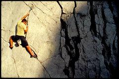 Rock Climbing Photo: Mike Nesbitt climbs the little boulder by the high...