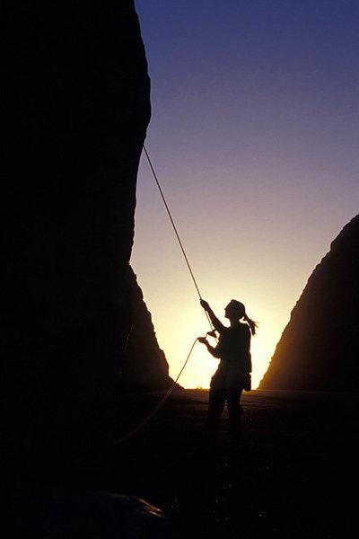 Marisa Fienup enjoying another stellar evening at Mugu Rock