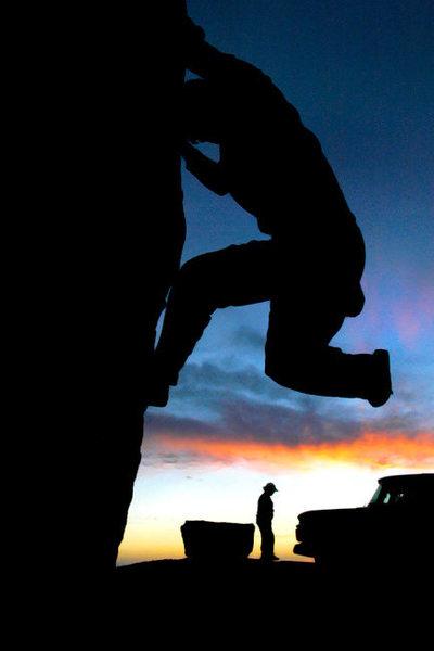 Rock Climbing Photo: Mugu Rock  self portrait by Matthew Fienup