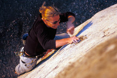 Rock Climbing Photo: Marisa Fienup climbs the popular 5.9 crack (route ...