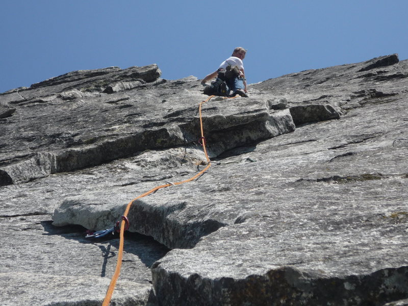 "Rock Climbing Photo: Second pitch above the ""reach""."