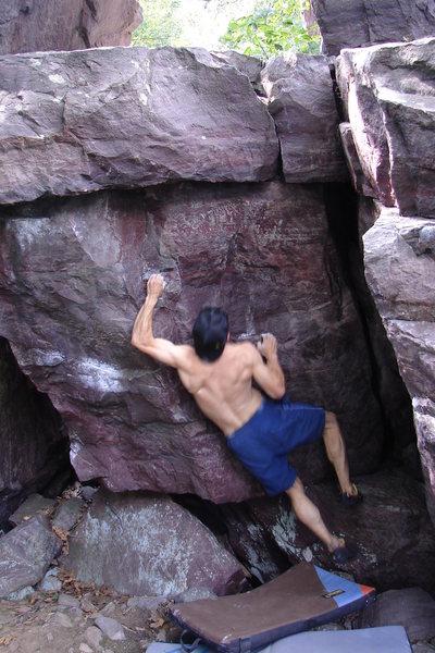 Rock Climbing Photo: Center face.