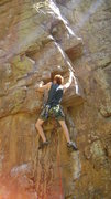 Rock Climbing Photo: My first real 5.10 lead.I say real cause I can pul...