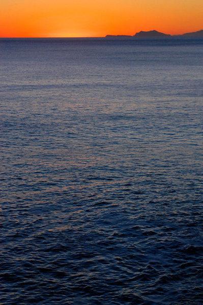Awesome November sunset, shot from atop Mugu Rock.  Both Anacapa and Santa Cruz Islands are visible.