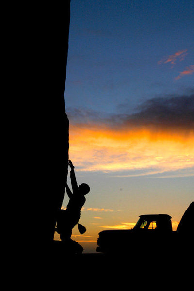Rock Climbing Photo: This is the first of a series of self portraits th...