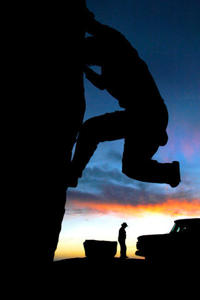 Rock Climbing Photo: This is several minutes after the first self portr...