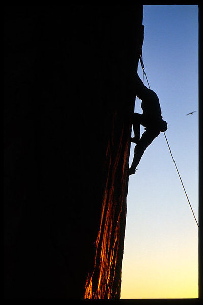 Rock Climbing Photo: A local climber from Thousand Oaks climbs the 5.11...