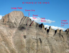 Rock Climbing Photo: This is a panorama of the Keyboard of The Winds as...