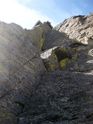 Rock Climbing Photo: This right-facing dihedral is the first pitch.