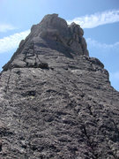Rock Climbing Photo: This photo looks up the final pitch to the summit ...