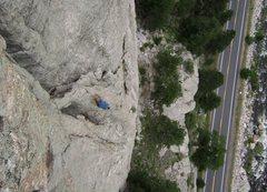 Rock Climbing Photo: John Langston follows the 3rd pitch.