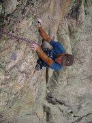 Rock Climbing Photo: Bermuda John finishing the crux on pitch 3.