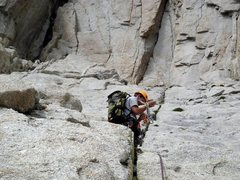 Rock Climbing Photo: Top of the 3rd pitch coming out the top of the Was...
