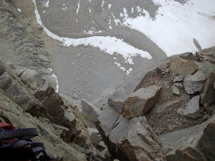 Rock Climbing Photo: View of the exposure after the Fresh Air Traverse